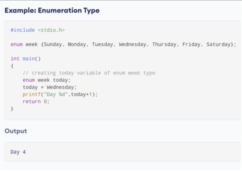 Enumeration example