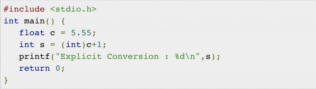 Typecasting in C